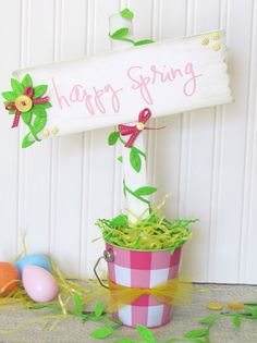 How to Make a Spring Sign on Ribbons.com