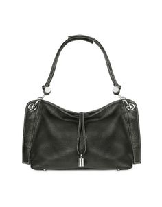 Charm Drop Black Pebble Italian Leather Hobo Bag -  Charm Drop Black Pebble Italian Leather Hobo Bag Buti Crafted from gorgeous pebbled leather, this hobo features a classic silhouette with unique details like the hook-shaped hardware on strap and the elegant dangle charm. Dust bag included, made in Italy. Price $574.00 Click HERE for more...