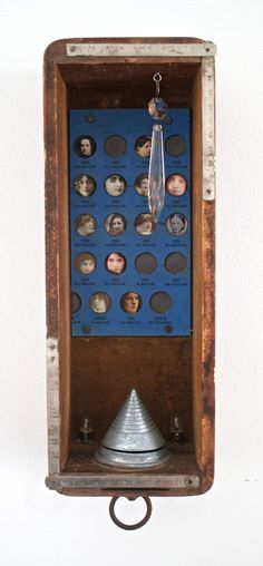 Rosemarie Hughes - Original Mixed Media Assemblage - Lives In The Balance