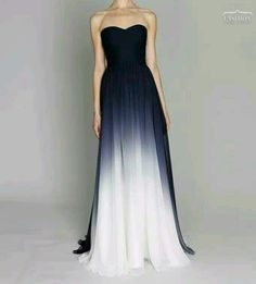 Navy ombre gown for a bridesmaid dress Strapless Dress Formal, Formal Dresses, Wedding Dresses, Dress Prom, Dip Dye Wedding Dress, Formal Prom, Dress Long, Blue Dresses, Pretty Dresses
