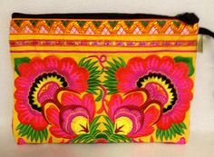 #Floral #Tribal #Hmong #Clutch available from www.stylewanderer.com