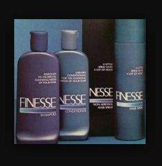 The FINESSE shampoo, conditioner & styling products line from the early 90's. I loved the scent. I know they still sell it today but the scent is a little off (kinda of a peppery scent).  G;)