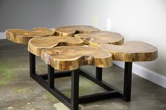 Funky Coffee Table. Modern/urban, Mid Century. Teak Slab/crosscut Top…