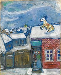 A village in winter - Marc Chagall, 1930