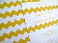 tarjetas de casamiento zig zag!