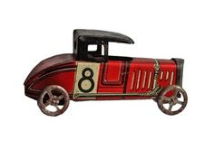 $294 Antique Nickel Toy Race Car www.homesav.com