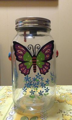 A personal favorite from my Etsy shop https://www.etsy.com/listing/227513621/solar-mason-jar-hand-painted-accented