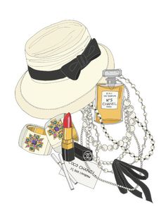 Chanel fashion illustrations