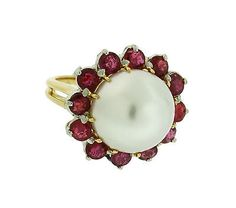 1950s Oscar Heyman large south sea pearls & ruby in platinum and 18k gold. - http://elegant.designerjewelrygalleria.com/oscar-heyman/1950s-oscar-heyman-large-south-sea-pearls-ruby-in-platinum-and-18k-gold/