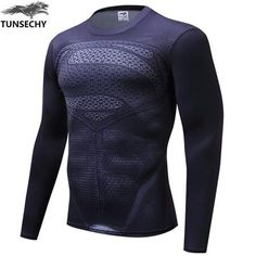 73b4308f090 Men's Long Sleeve Novelty Superhero Fitness Activewear Compression T-Shirt  Plus Size
