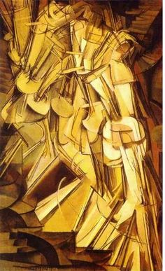 """Nu descendant un escalier"" (Nude, descending a staircase, 1912), by Marcel Duchamp. Cubism and futuristic."