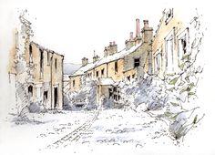 Grassington in the Yorkshire Dales ~ sketch ~ John Edwards