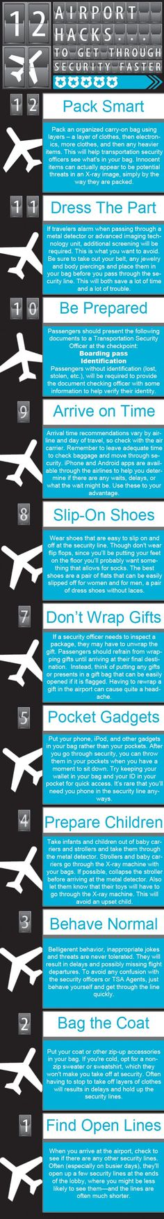 12 Airport Hacks To Fly Through Security during the Holidays