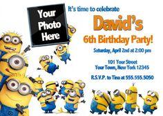Bunch Of Minion Birthday Party Invitations Ideas