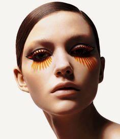 orange, painted on lashes
