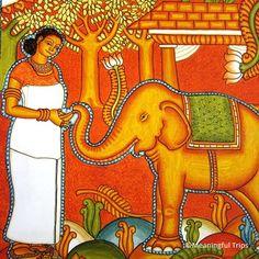 Mural in Kerala