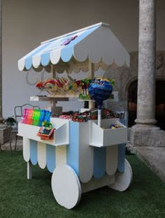 Carrito de carton carritos de chuches sweets carts for Carritos de chuches para comuniones precios