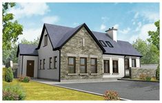 Plan a home. Dormer House, Dormer Bungalow, House Designs Ireland, Construction Cost, Level Homes, New House Plans, Paint Colors For Home, Types Of Houses, House Painting
