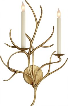Branch Sconce by Visual Comfort & Co. | Shown in Gilded Iron