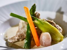 Blanquette de veau with seasonal vegetables by #ARIAFineCatering