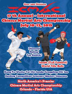 ICMAC 17th Annual International Chinese Martial Arts Championship promotional flyer.