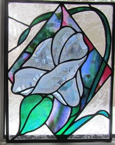 Stained Glass Morning Glory  Bevel Morning Glory  by feesfusions