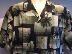 Tommy-Bahama-Relax-Palm-Tree-Island-100-Silk-Camp-Hawaiian-Aloha-Shirt-Sz-L