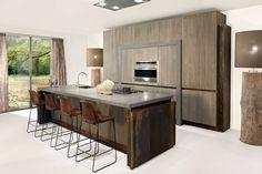 Contemporary, Decor, Wood, Concrete Wood, Kitchen, Home, Kitchen Island, Modern, Home Decor