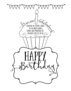 """Free Printable Birthday Card! This INTERACTIVE card allows you to type in the child's name under the word """"birthday"""" when you download the .pdf. www.GodMadeColor..com"""