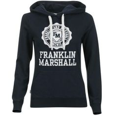 Franklin Marshall Women's Logo Hoody (69 AUD) ❤ liked on Polyvore featuring tops, hoodies, womens clothing, hooded pullover, hooded sweatshirt, hoodie top, sweatshirt hoodies and logo tops
