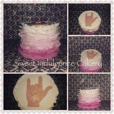 ASL I love you cake...