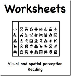 Printable sample worksheets created with iDraw - visual and spatial ...