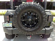 RECON Part # 264234BK Jeep 07-14 JK Wrangler LED Tail lights - Smoked Lens