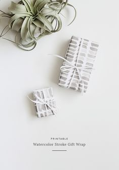 printable watercolor stroke gift wrap | almost makes perfect