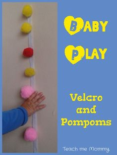 (This post contains affiliate links for your convenience) Some times(most of the times) you just have to keep baby play simple! Like with this activity with Velcro and Pompoms. I've seen time and again that it is the simple things that interest babies: a cardboard box, a set of keys, rocks, spoons, lids and jars …