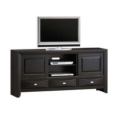 "AFW has an amazing selection from TJ FURNITURE including the 67"" Contemporary HDTV Stand in stock or quick ship! Shop this and other items by TJ FURNITURE and save!"