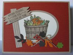 Fall Basket of Blessings Card