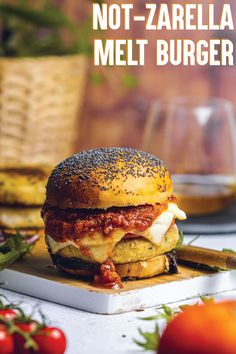 Veggie Meals, Veggie Food, Veggie Recipes, Sweet Recipes, Vegan Vegetarian, Vegetarian Recipes, Cheese Dreams, Vegan Mozzarella, Burger Bar