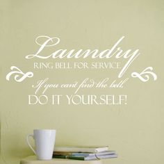 Laundry Wall Decal by luxeloft on Etsy