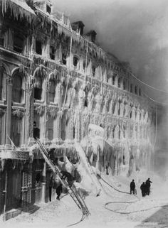 When water was used to put out a burning building in Montreal, Quebec, Canada, in the late 19th century, the air temperature was so cold that the water quickly turned to ice.