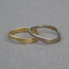 18ct gold wedding ring - Organic gold ring - Rustic gold ring - Yellow gold ring - White gold ring - Handmade wedding ring - One ring only by JewellCollect on Etsy https://www.etsy.com/uk/listing/289229535/18ct-gold-wedding-ring-organic-gold-ring
