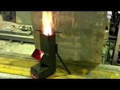 ロケットストーブ(100-150RS) 燃焼 - YouTube