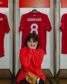 Stevie G kit , Anfield , Liverpool supporter , Thai actress @ Noona Stevie G, Football Fans, Liverpool, Actresses, Selfie, Kit, Girls, Female Actresses, Toddler Girls