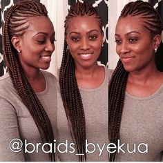 Women enjoy wearing box braids because these braids not only allow them to extend the length of their hair, but they can also wear different hairstyles with box braids. Braided Mohawk Hairstyles, My Hairstyle, African Hairstyles, Braided Mohawk Black Hair, Protective Hairstyles, Mohawk Braid Styles, Braided Ponytail, Natural Hair Braids, Natural Hair Styles