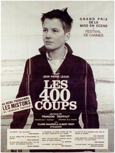 """Affiche de """"Les 400 coups"""" de F.Truffaut"""