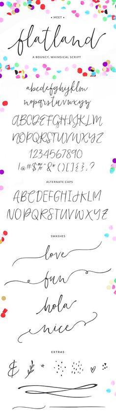 Flatland Font - Script