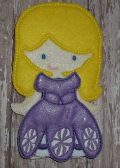 Pretty Purple Princess Dress felt unpaper doll dress Up Outfit First Princess Sophia Listing for doll clothes outfit only by cabincraftycreations on Etsy