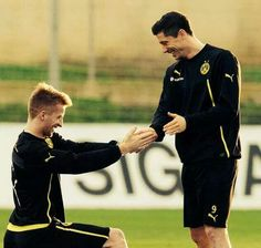 Marco Reus and Robert Lewandowski