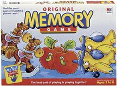 I memorized every single picture with the color of each game piece, but for whatever reason I cannot remember what the box looks like. I'm assuming this is the Memory game I played as a kid. I remember the red card had an apple, yellow had a lightbulb and a schoolbus, etc. I used to beat EVERYBODY at this game to the point where no one would play with me minus one of my brother's friends. He beat me one time and I refused to play with him anymore. What a sore loser, I am.