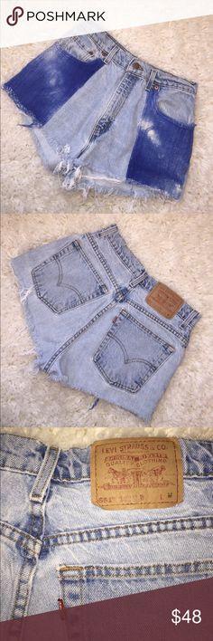 Levi's high waist denim Amazing condition! Levi's high waist denim shorts. Embroidered front detailing. Light wash. Size medium. Levi's Shorts Jean Shorts